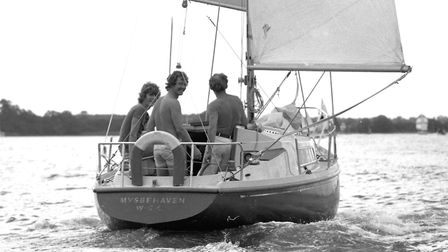 Enjoying the River Deben during the summer of 1976 Picture: ARCHANT