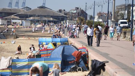 Felixstowe prom is a great place for a walk in the heatwave - but avoid the middle of the day. Pictu
