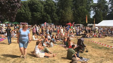 The crowds at Party in the Park in Sudbury. Picture: RUSSELL COOK