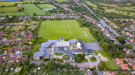 St Alban's Catholic High School before the hot spell hit Picture: SKY CAM EAST