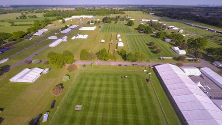 Trinity Park before the heatwave Picture: SKY CAM EAST
