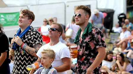 Lots of festival kept their drinks topped up as the sun shone at Jimmy's Festival Picture: JAMES AGE