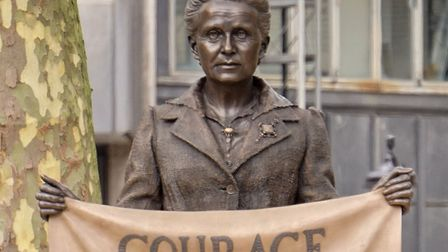 The inspiration for our Inspiring Women project - Millicent Fawcett. Her statue seen here in Parliam