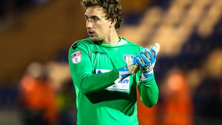 Ex U's keeper, Sam Walker, who could sign for Bolton Wanderers this week. Picture: STEVE WALLER
