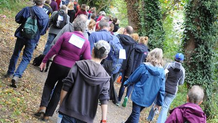 People taking part in last year's Sudbury Memory walk. Picture: SOUTH SUFFOLK LEISURE