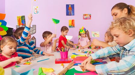Children love making things. Picture: GETTY IMAGES