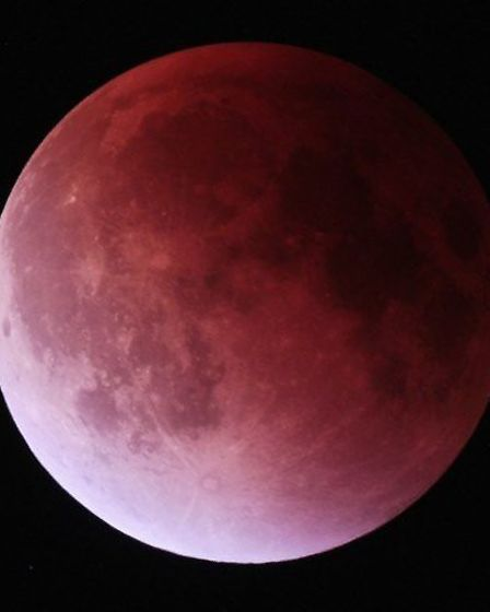 The moon will look red during the eclipse. Picture: DAVID MURTON/DARSHAM ASTRONOMICAL SOCIETY