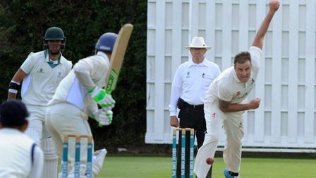 Michael Comber, who took two wickets for Suffolk against Lincolnshire. Picture: ANDY ABBOTT