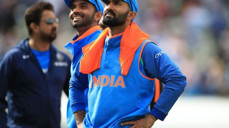Dinesh Karthik, in good form for India at Chelmsford Photo: PA