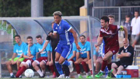 Ben Folami in action at Chelmsford City Picture: ROSS HALLS