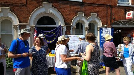 More than 100 people took part in the 'Brexitometer' survey Picture: PHILIP GOUGH