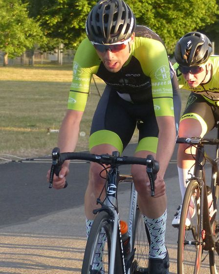 Ross Fawcett (Pedal Power Ipswich) was the winner of the final round at Trinity Park. Picture: FERGU