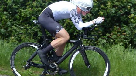 Andy Proffitt (Ipswich BC) racked up 50 miles in one hour 41 minutes at Newmarket. Picture: FERGUS M