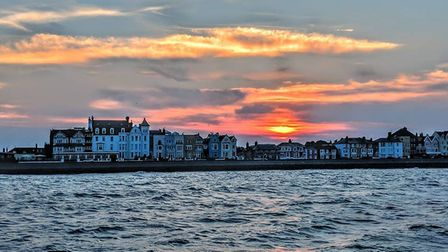 The sunset over Aldeburgh Picture: JAMES CABLE