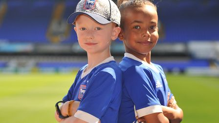Harley Green and D'ondre Etheridge Picture: SARAH LUCY BROWN