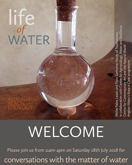 A poster for the Life of Water exhibition at Aldeburgh Beach Lookout Tower Picture: TOUCHSTONES