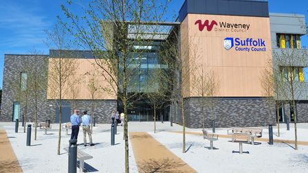 Official opening of the new Riverside building for Waveney and Suffolk council.