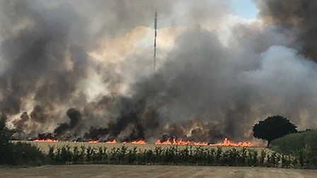 The fire consumed appropximately 100 square metres Picture: HOLLY HARRISON-WATSON