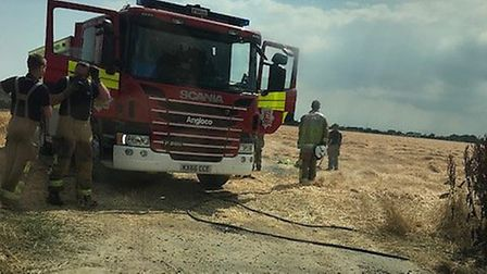 Four fire engines are currently at the scene Picture: HOLLY HARRISON-WATSON