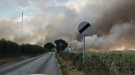 Smoke seen from a neighbouring road Picture: HOLLY HARRISON-WATSON
