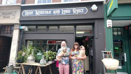 Andy Hussey and Victoria Norfolk outside Lady Norfolk and Lord Rust Picture: KATY SANDALLS