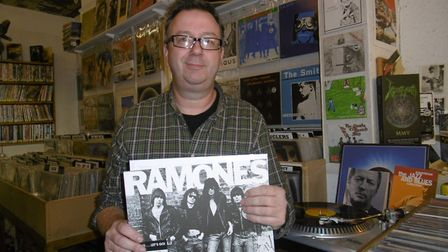 Chris Mortimer of Out of Time Records on Fore Street. Picture: DAVID VINCENT