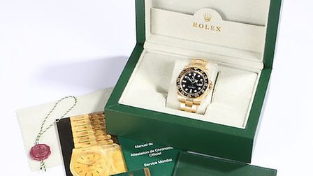 The Rolex GMT wristwatch which sold for �15,000 Picture: DANIEL PAGE
