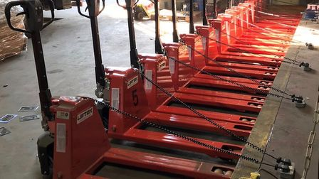 Systematic Logistics International has invested in 20 new electric pallet trucks Picture: SYSTEMATIC