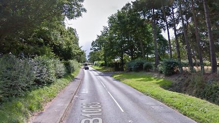 Police have closed the B1063 at Cheveley Picture: GOOGLE MAPS