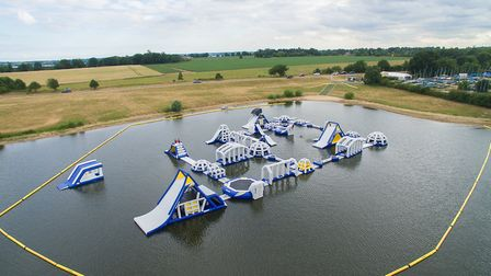 �Aqua Park Suffolk on Alton Water, Ipswich, is currently closed for public safety. Picture: AQUA PAR