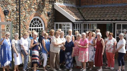 Members of the Mother's Group at Greene King celebrate the milestone Picture: ROBERT ROBERTSON
