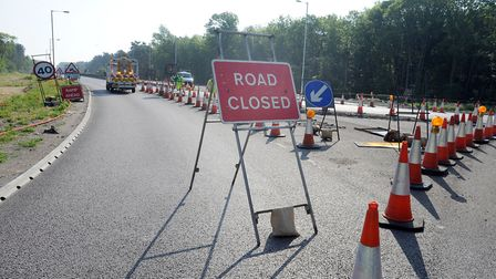 The A11 closed at Fiveways Roundabout (Barton Mills) after an accident (stock image) Picture: PHIL M