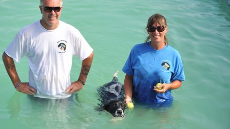 Andy and Jo Brownlie, owners of Canine Dip and Dive Picture: SARAH LUCY BROWN