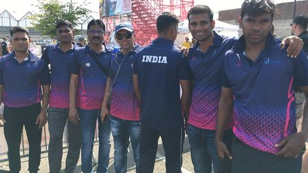 A team of seven firefighters from Mumbai in India are in Bury St Edmunds for the event Picture: MICH