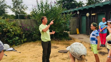 Chris Packham at Lakenheath Fen. Picture: RUSSELL COOK