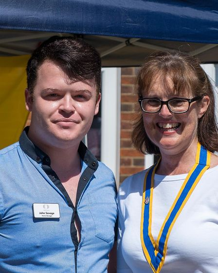 Home manager John Savage with deputy mayor Tracey Green Picture: BARRY CROSS