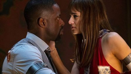Sterling K. Brown and Sofia Boutella in Hotel Artemis (2018). Picture: WME GLOBAL