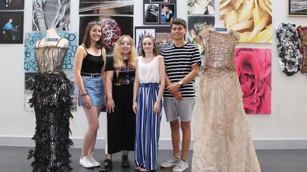 Emily Sharp, Imogen Mayes, Emma Carter and Freddie Russell Picture: GOODERHAM PR