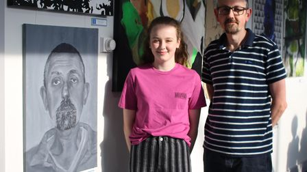 Ismay Hathaway, 16, from Boxford, with her dad Andrew Picture: GOODERHAM PR