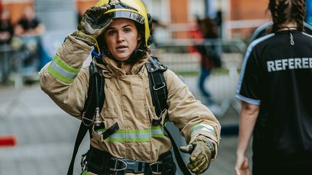 Competitors will descend on Bury St Edmunds for the annual British Firefighters Challenge on Friday