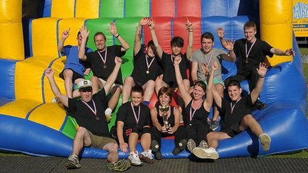 Competitors at We're a Knockout rasing money for chairty. Picture: WE'RE A KNOCKOUT