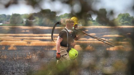 Firefighters tackle another field blaze (file image) Picture: SARAH LUCY BROWN