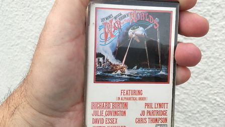 Look, kids! Old tech! One of the Jeff Wayne's Musical Version of The War of the Worlds cassettes fro