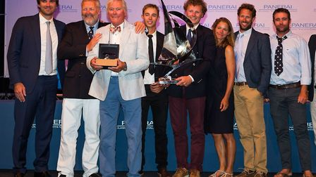 The victors: Spirit 52 Flight of Ufford, helmed by her owner Sean McMillan, wins the Yacht of the Re
