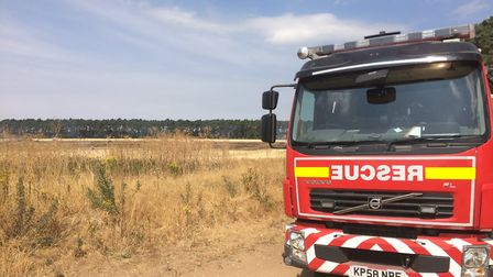 The aftermath of the fire at Elveden (Image: Rebecca Murphy)