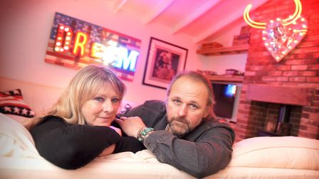 Chris and Linda Bracey pictured at their Thorpeness home before Chris's death Picture: GREGG BROWN