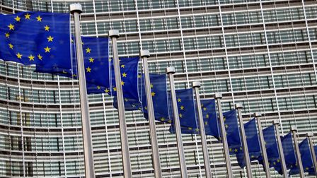 The EU flags flying outside the Berlaymont building in Brussels. Picture: ARCHANT ARCHIVE.
