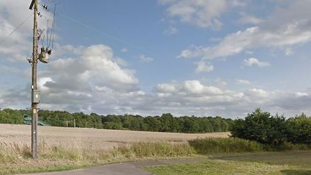 The fire was in a field off London Road, Chelmsford Picture: GOOGLE