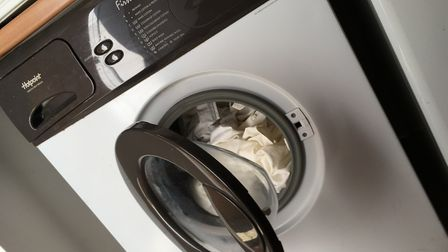 Sheena's washing machine, 22 years old but nearing the end. Picture: Archant.