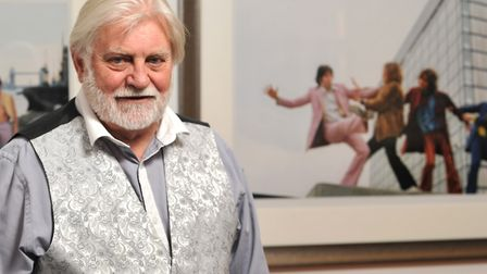 Former Sunday Times snapper Tom Murray with his photographs of The Beatles Picture: SARAH LUCY BROW
